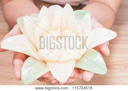 Close Up Of Flower Candle
