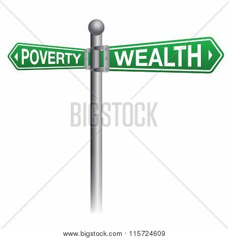 Wealth And Poverty Sign Concept