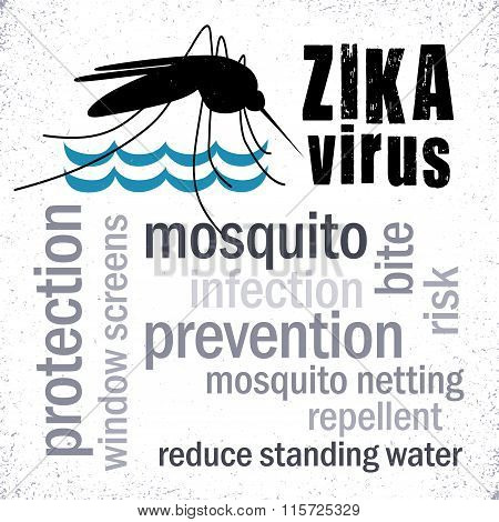 Zika Virus, Mosquito, Word Cloud