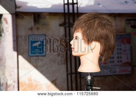 Marionette Head On A Stick