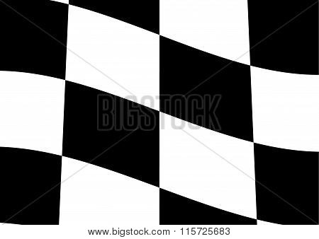 Finish Checker Flags Background. Vector Illustration Victory Concept Design.