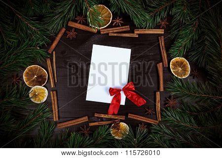 Christmas Rustic Frame Card