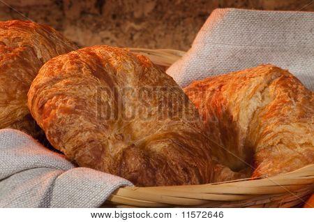 Freshly Made Breads Croissant Served For Breakfast