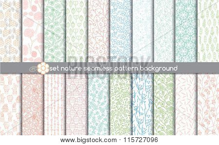 set nature seamless patterns.pattern swatches included in file, for your convenient use.