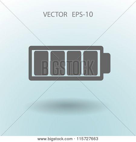 Flat battery full icon