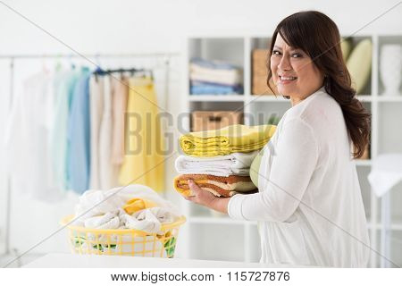 Middle-aged housewife