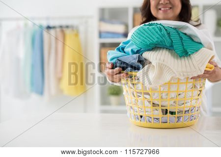 Housework and laundry concept