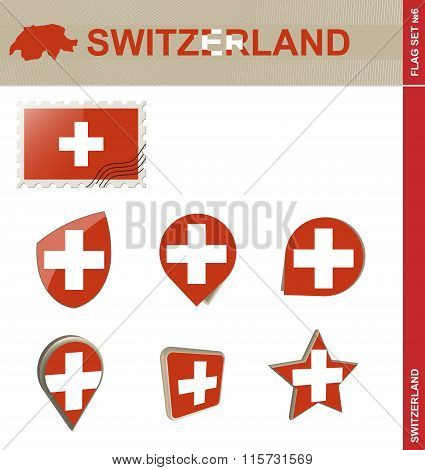 Switzerland Flag Set, Flag Set #6