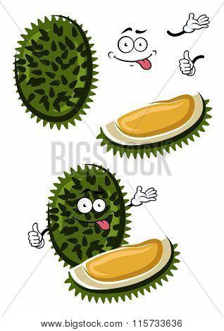 Tropical smelly cartoon durian fruit