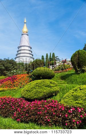 CHAINGMAI THAILAND - OCTOBER 7 2015 Doi Inthanon National Park one of the most visited tourist attractions on Oct 72015 in Chaingmai Thailand.
