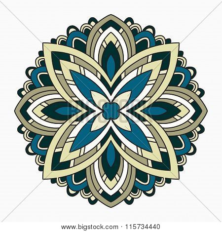 Lace Background. Beautiful Mandala. Vector Illustration.