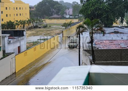 Flood On Tropical Street