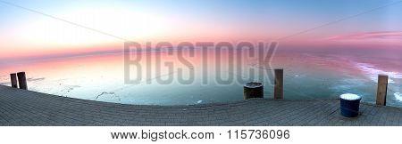 Frozen lake from Hungary