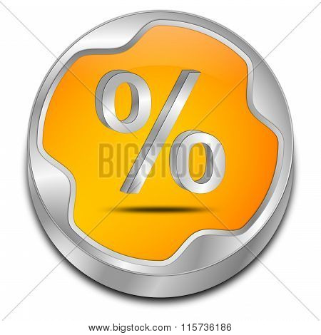 Discount button with percent symbol