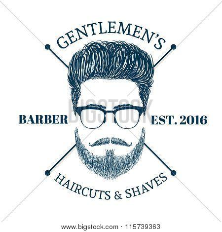 hair and beards Logo