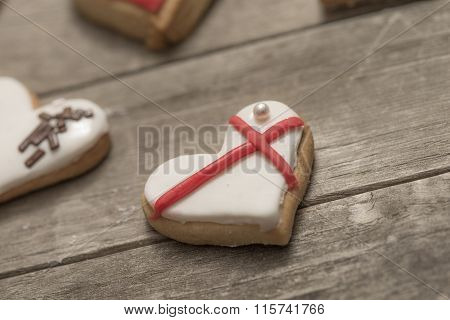 Several Delicious Cookies With Icing