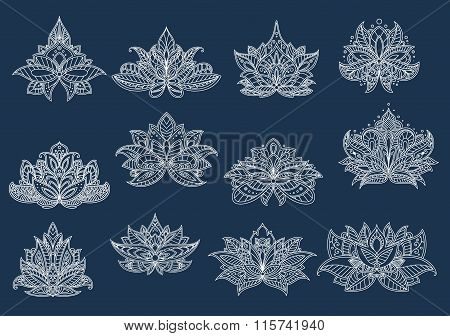 Paisley flowers with oriental openwork ornament