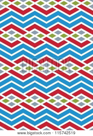 Bright Abstract Seamless Pattern With Interweave Lines. Vector Psychedelic backdrop With Stripes. E