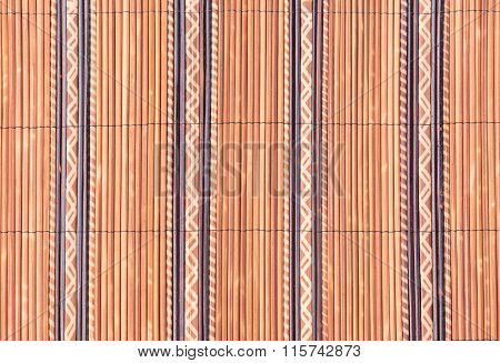 Weave Of Small Bamboo Wood Texture For Background