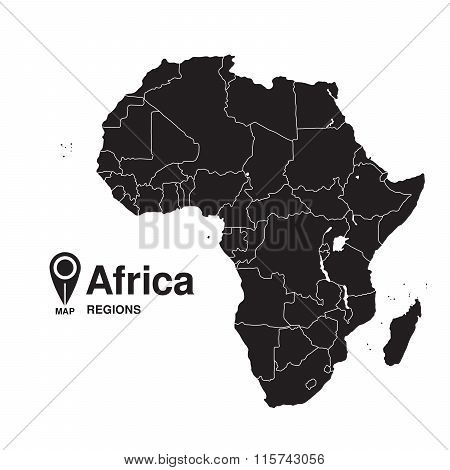 Regions Map Of Africa
