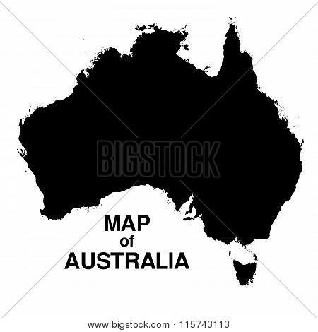 Australia regions silhouette