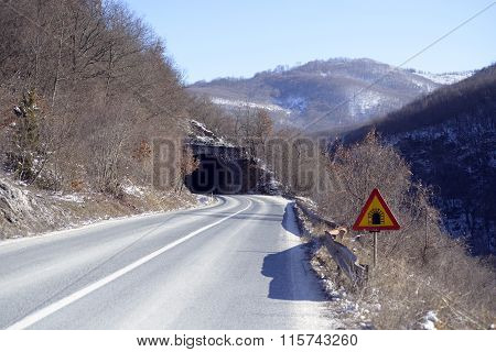 Picture of a Tunnels on the road to Ohrid Macedonia