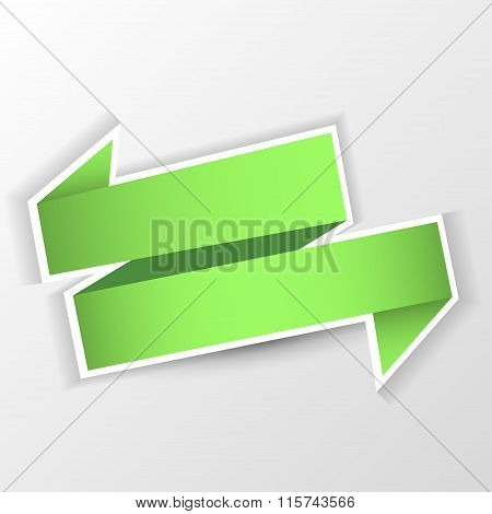 Green arrow isolated on gray background . vector illustration.
