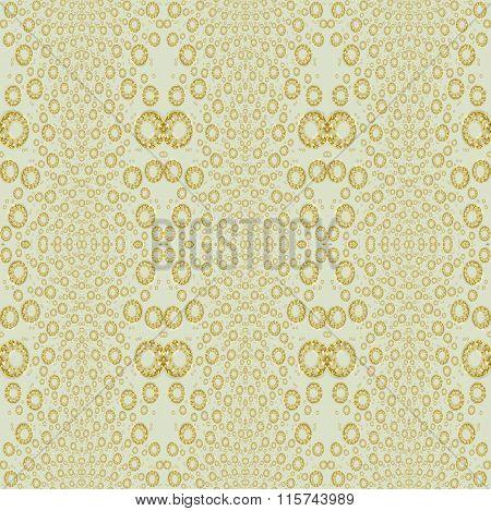 Seamless circle pattern gold beige