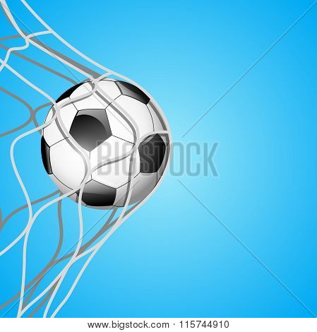 Soccer ball in net.Vector
