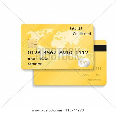 Detail Textured Credit Card on white