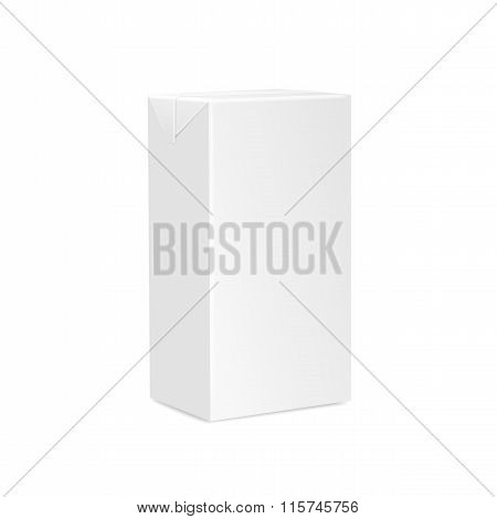 Milk Juice Carton Packaging Package Box White Blank Isolated
