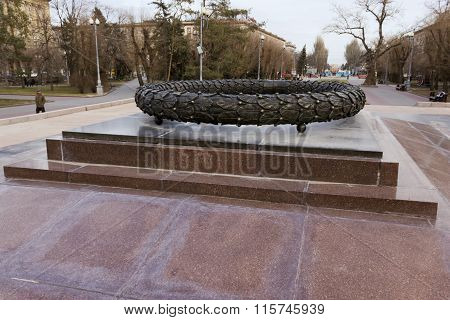 A Bronze Laurel Wreath. Volgograd, Russia
