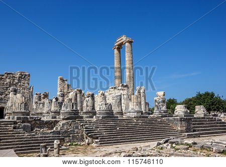 View Of The Temple Of Apollo In Didim