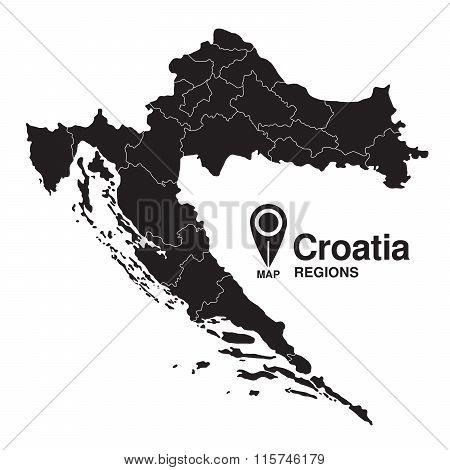 Regions Map Of Croatia