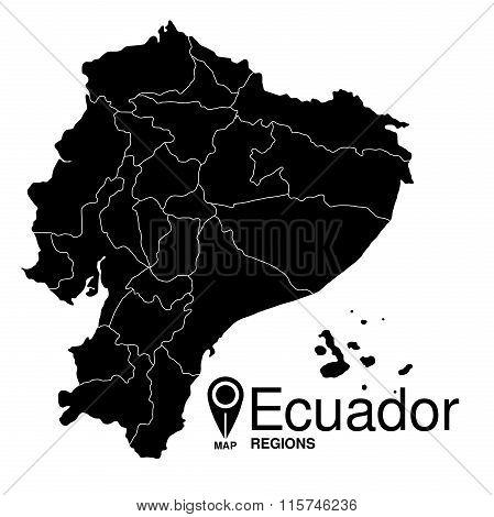Regions Map Of Ecuador