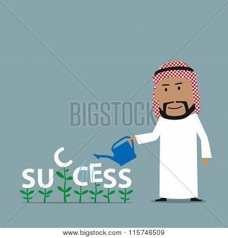 Arabian businessman grows a success