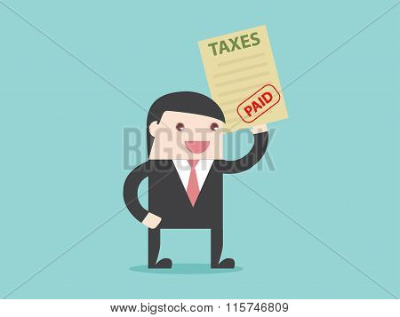 Businessman Paid Taxes