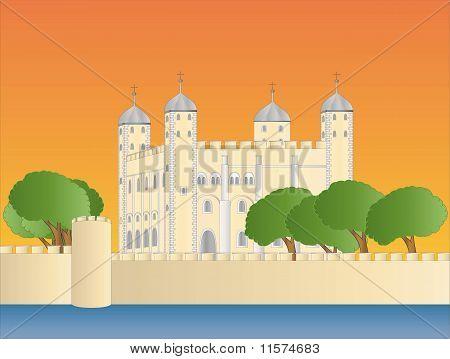 Torre de Londres ao entardecer