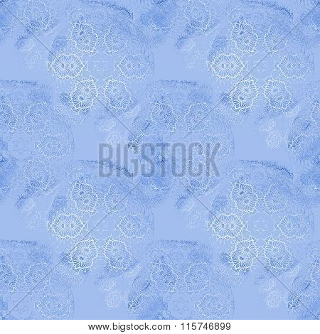 Seamless floral pattern light blue