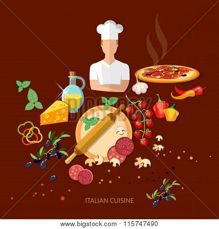 Pizzeria Italian Pizza Ingredients Italian Cuisine