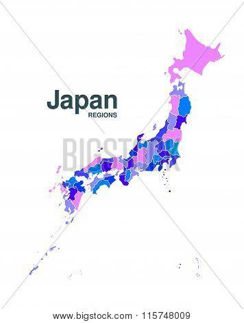 Detailed Japan Map