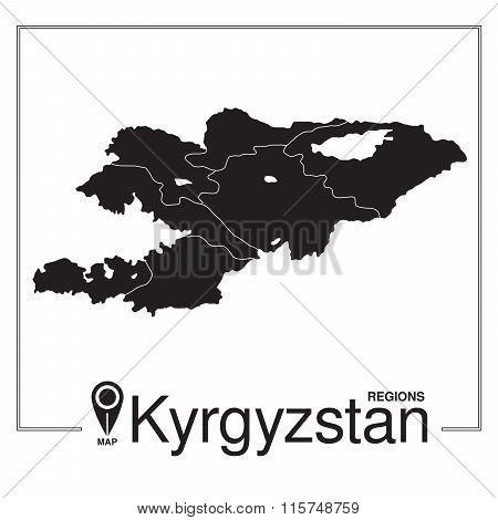 Kyrgyzstan Regions Map