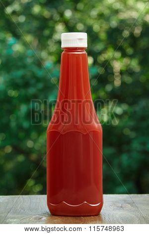 Bottle of ketchup