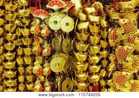 Chinese gold money decorations