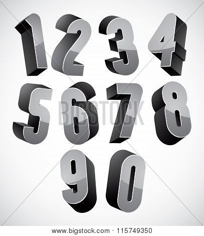 3D Numbers Set.