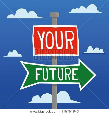 Your Future This Way Sign