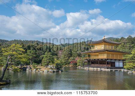 View Of Kinkakuji Temple In Japan