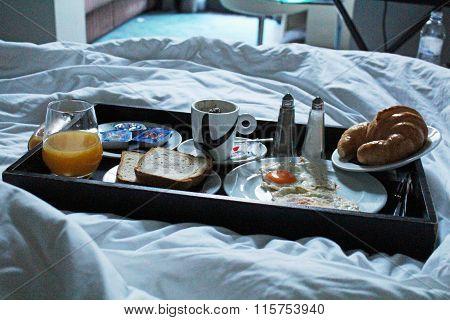 Good morning luxury hotel breakfast