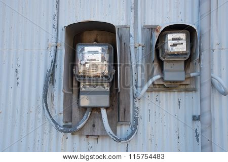 Closed Up The Electricity Meter