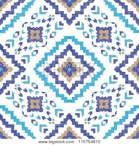 hand drawn highly detailed tribal seamless pattern